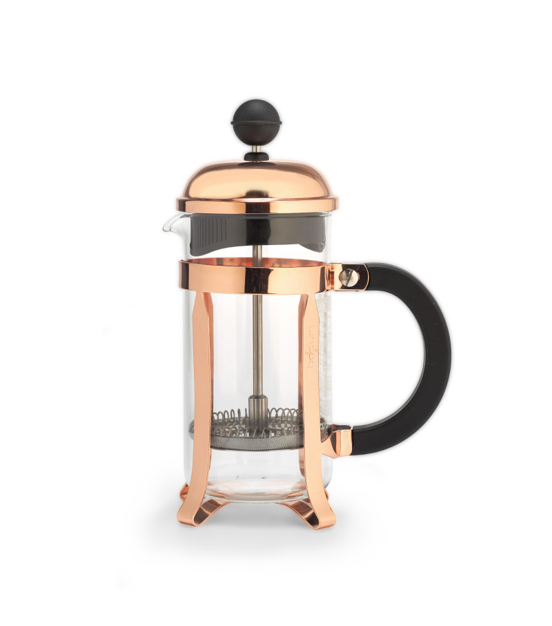 bodum chambord french press coffee maker 3 cup white horse coffee. Black Bedroom Furniture Sets. Home Design Ideas