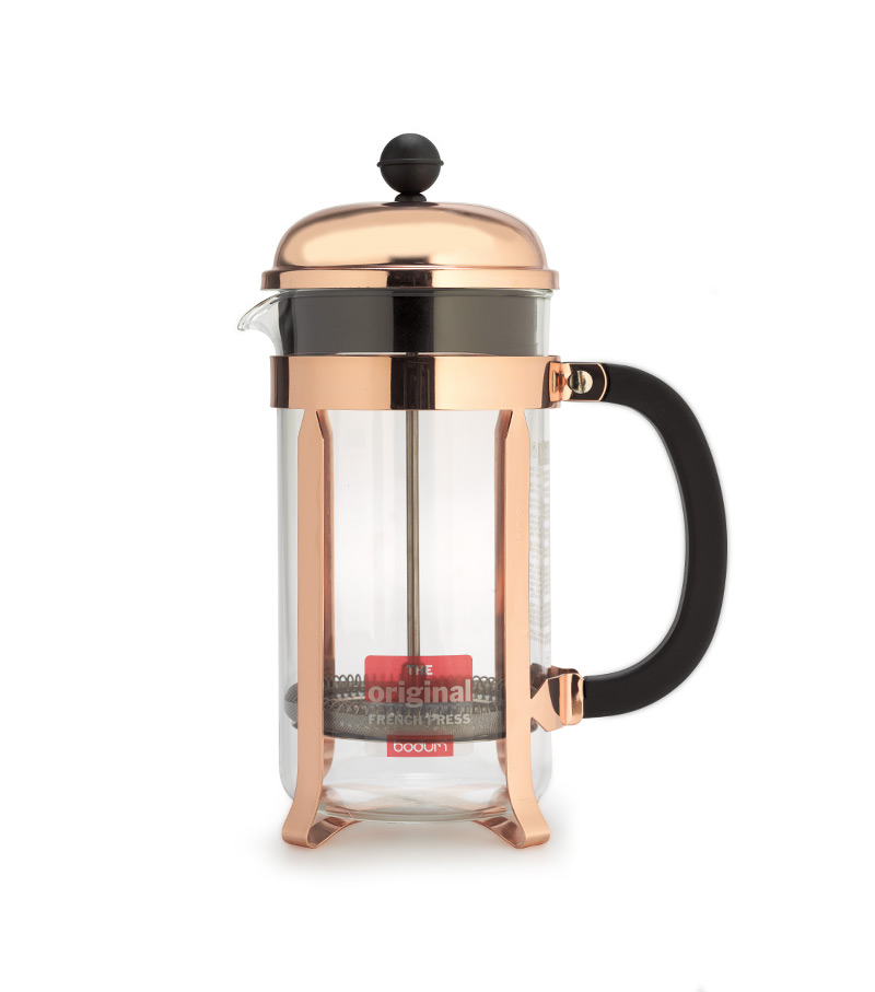 White French Press Coffee Maker : Bodum CHAMBORD French Press coffee maker 8 Cup - White Horse Coffee