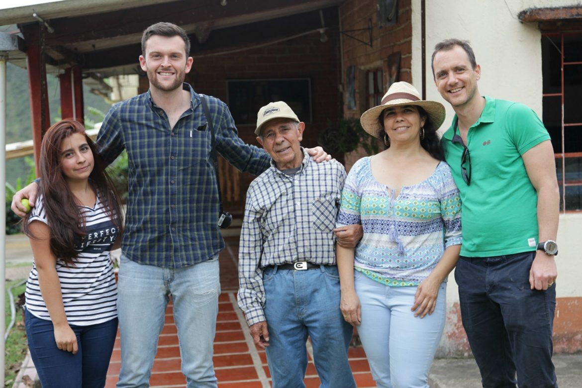 Oliver (far right) with the Luz Camelo Guevara family.